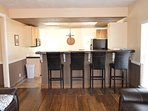 Kitchen bar with seating for 4