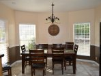 Kitchen dining table with seating for 8