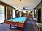 Billiards room in the club house.