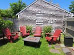 Private outdoor area with fire pit!- 388 Main Street (The Priscilla House) Chatham Cape Cod New England Vacation Rentals