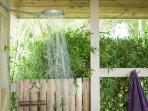 Garden Outdoor Shower off of Master Suite