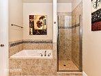 Master Bathroom Tub & Shower