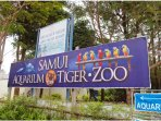 Samui Aquarium and Tiger Zoo 1.5 km away from the property