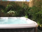 Private Jacuzzi for ultimate hydrotherapy relaxation.
