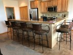 Breakfast Bar and Kitchen Seats 6