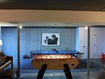 Basement features: ping pong table, Bonzini foosball, darts and tv w/apple tv