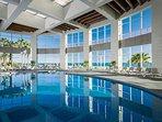Enjoy the indoor pool at the Mayan Palace Resort