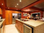 Gourmet kitchen with new GE appliances