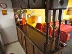 We built the theme around this retro kitchen