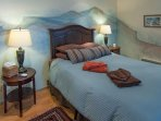 """""""Cottage"""" bedroom adjoins bathroom and has its own separate entrance."""
