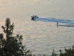 Water skiing off Kisla