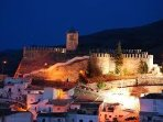 Seron castle at night