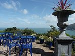 Private Terrace, panoramic sea views over Lynmouth Bay, The Bristol Channel & Countisbury headland