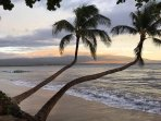 Morning light highlighting Maui's Mountain, Haleakala Kihei/Wailea are across the bay