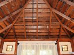 Arcata Stay's Gateway Stay 2 BD/ 2 BA vacation rental redwood ceiling