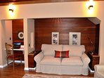 Arcata Stay's Gateway Stay 2 BD/ 2 BA vacation rental sofa converts to double bed