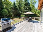 Large Deck with Grill and Outdoor dining area