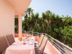 large balcony +dining outdoor