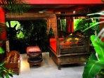 Massage room in a rainforest retreat.