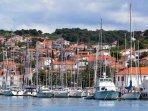 Beautiful waterfront of Trogir on the Dalmatian Coast