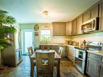 Fully equipped kitchen with stainless steel appliances