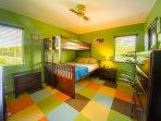 Second bedroom with queen / twin bunk bed