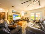 Cozy living room with satellite TV
