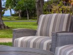 Front lanai seating with little ocean view