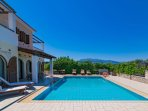 Private pool with terrace area and views