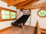 Enjoy a friendly competition of indoor basketball.