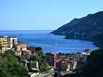 Vietri square with view of the Amalfi coast