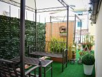 Lovely terrace/garden with gazebo to enjoy your breakfast or simply relax