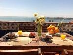 break fast on terrace