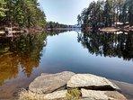 Conway Lake - a 5 min drive away.