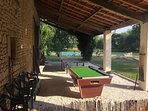 Outdoor Table Tennis and pool table