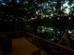Evening view of deck looking West.