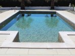 Heated pool.  Can be used almost all year round ....