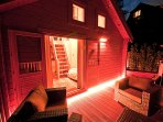 Decking nightlife with heat lamps and lighting