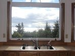 Kitchen view of Olympic Peninsula