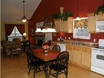 Fully Equipped Kitchen and Dining Area. Coffee Maker, Toaster, Mixer, Blender, pots and pans