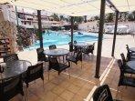 pool with nice bar