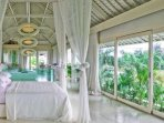 Masters room 130m2, two full bathrooms, bathtub, private living rooms, private chill out terrace.