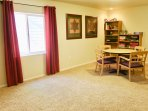 Game room features Board Games, cards, dominoes, craft activities and supplies.