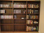 DVD library contain 150+ movies and some Books for your enjoyment.