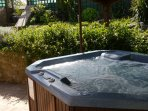 Soak away your troubles in the fabulous hot-tub. Just for Poppy Cottage No. 1 guests only