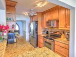 Make meals easily with the fully equipped kitchen.