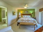 Make yourself comfortable in this master bedroom.