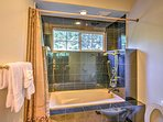 5 bathrooms provide plenty of space and privacy.