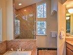 You'll feel like royalty in the en suite master bath.