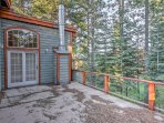 Enjoy the stunning wooded landscape with peek-a-boo lake views.